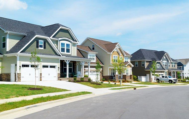 three large houses