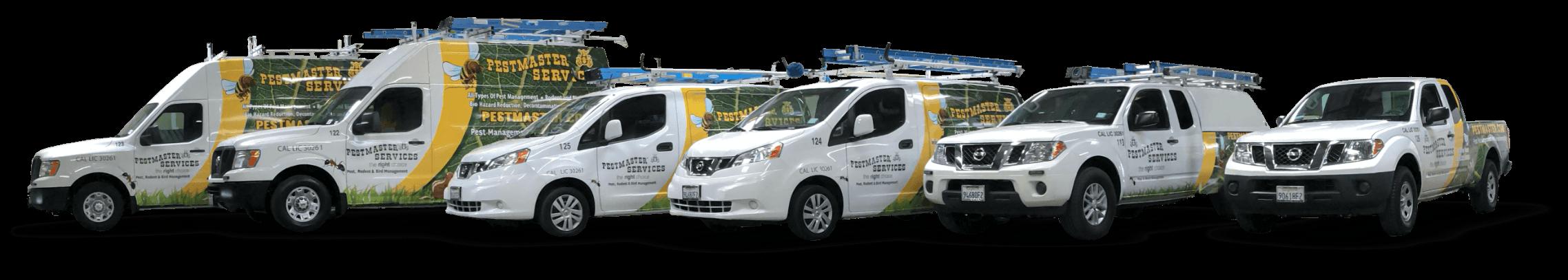 pestmaster services trucks