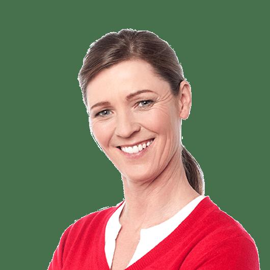 smiling female customer
