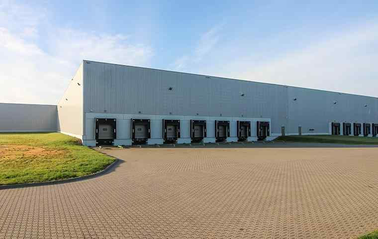 a large commercial warehouse
