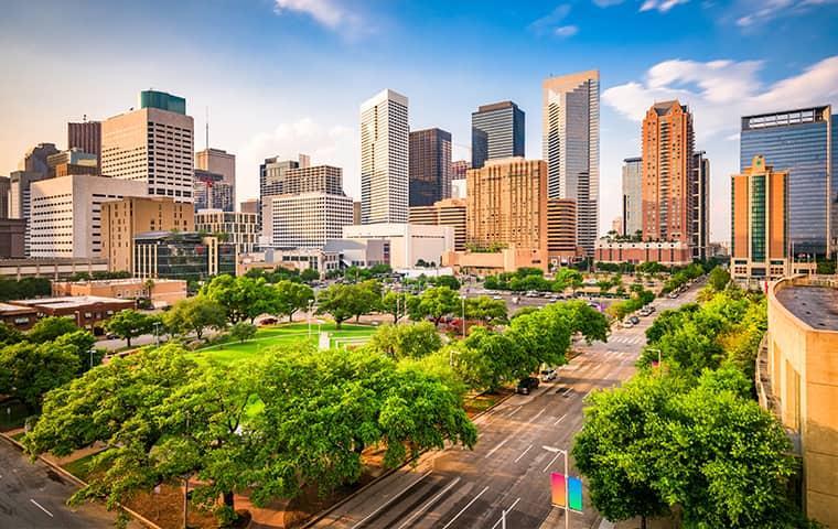 houston texas city view
