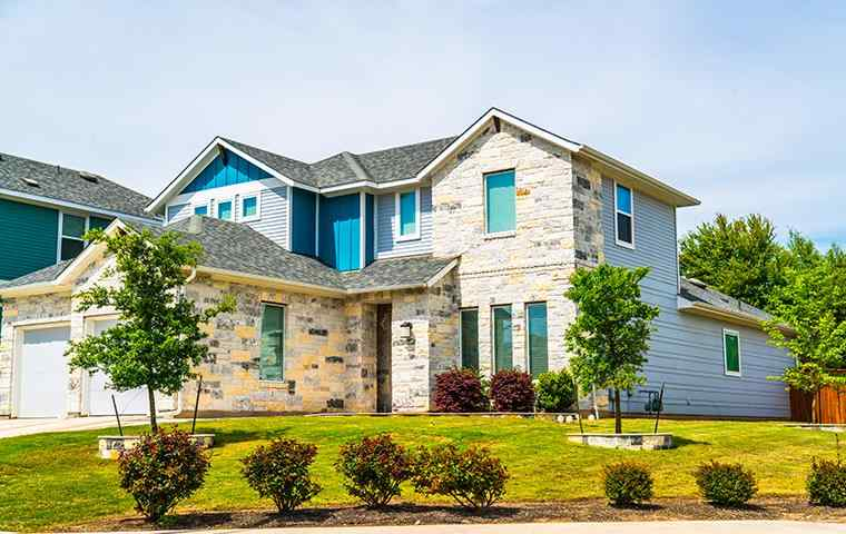 street view of a home and lawn in hickory creek texas