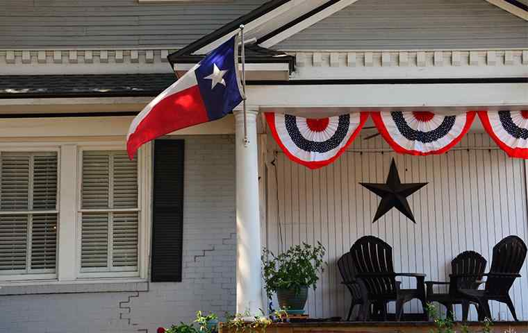 front porch of a home in hurst texas