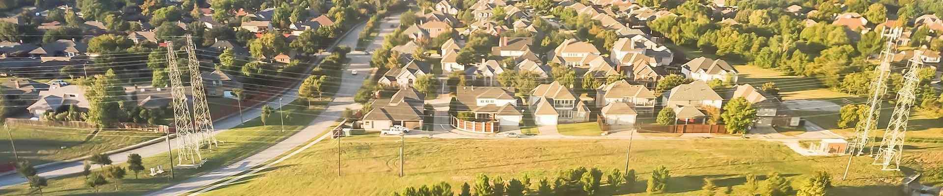 aerial view of carrollton texas