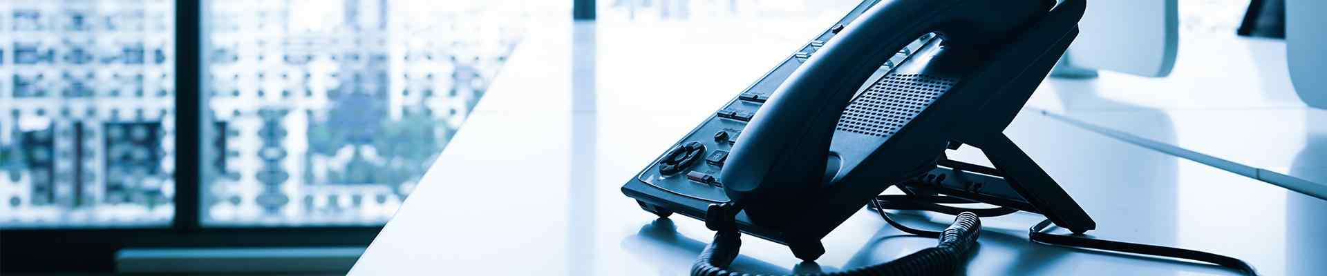 office phone on a desk