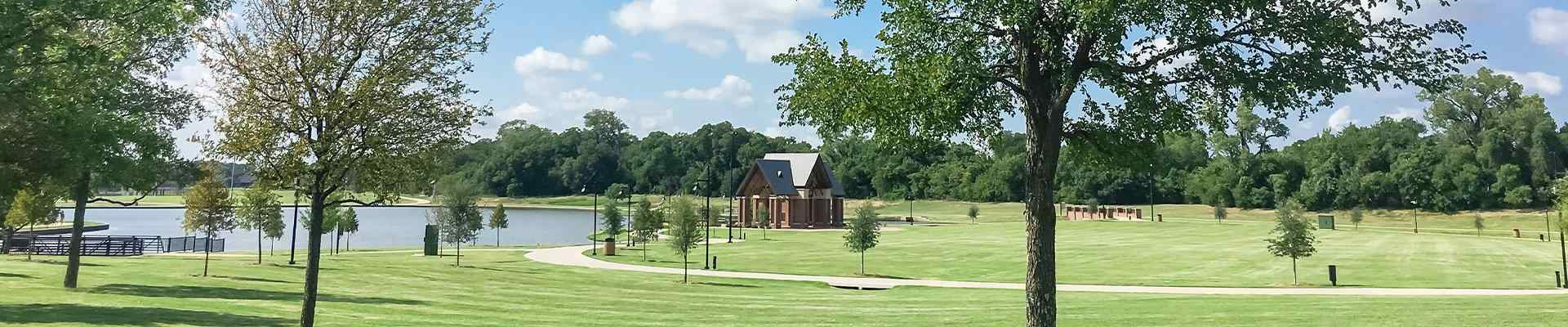 view of a park in coppell texas