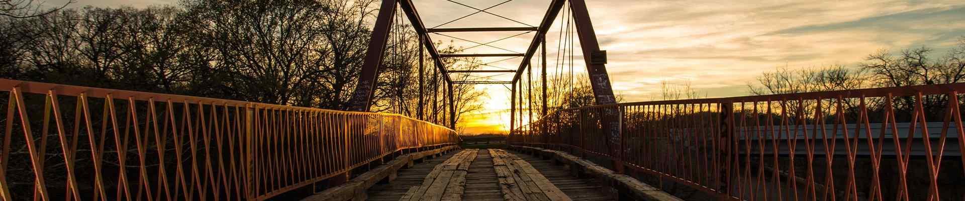 a view of a bridge in denton texas