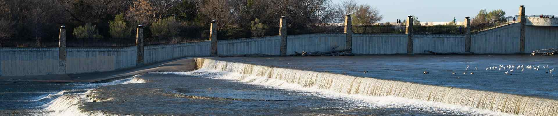 a view of a waterway in garland texas