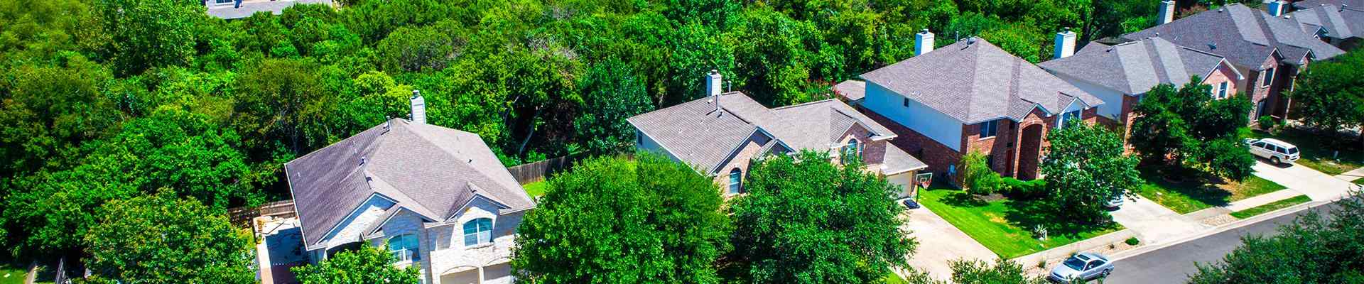 a suburban neighborhood in hickory creek texas