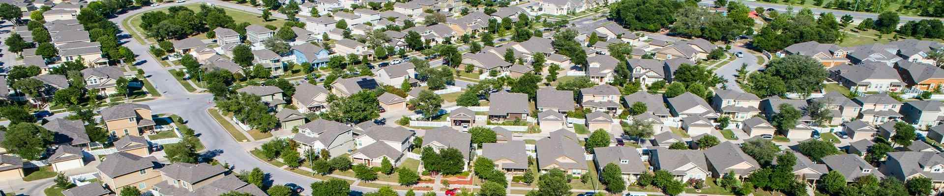 aerial view of mckinney texas