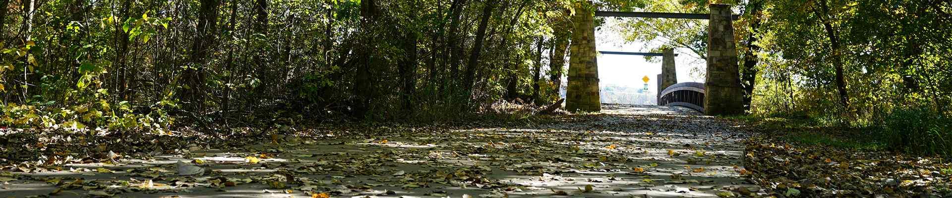 a walking path in oak point texas