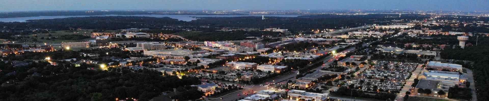 skyline view of southlake texas