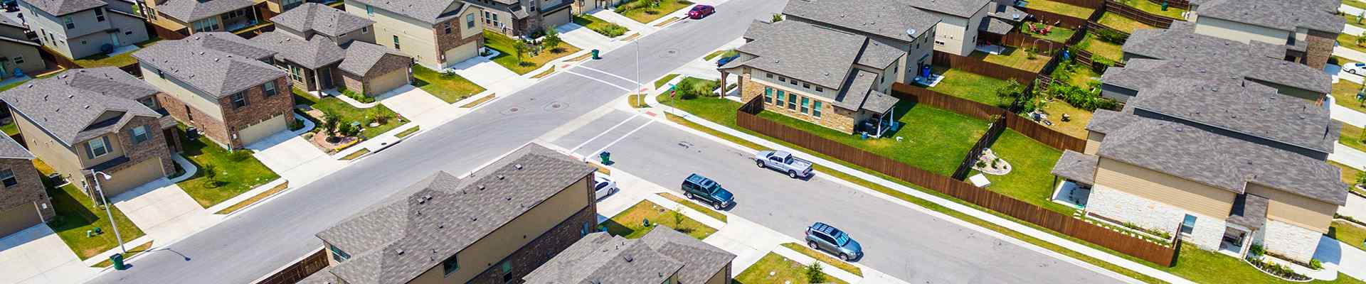 a suburban neighborhood in trophy club texas