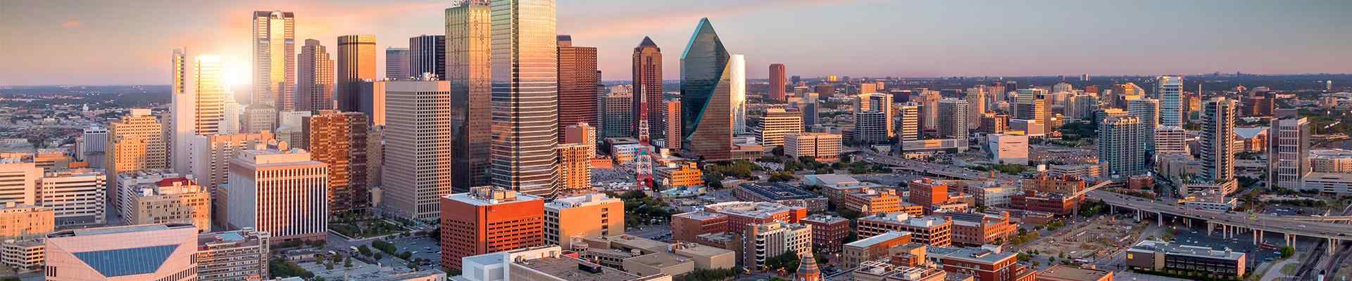 skyline view of dallas texas