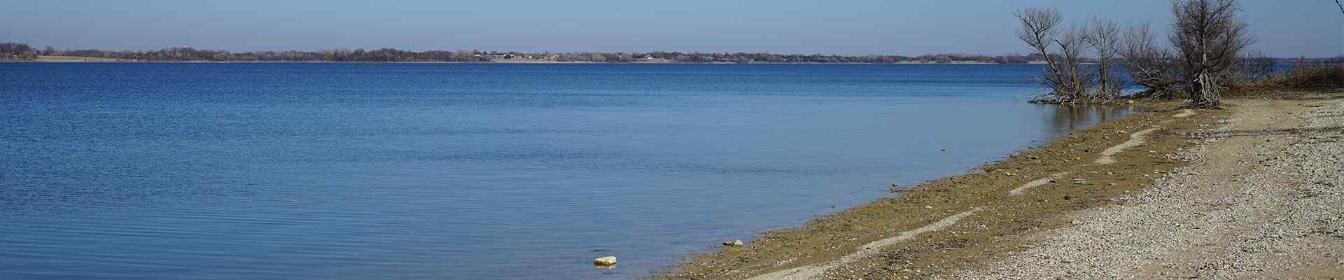skyline view of water and beach in wylie texas