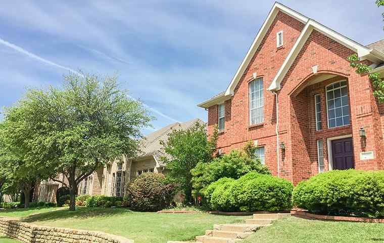 street view of a home and lawn in richland hills texas