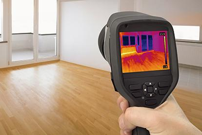 infrared camera inspecting interior of home