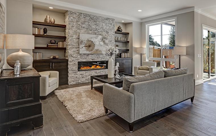 living room in a condo