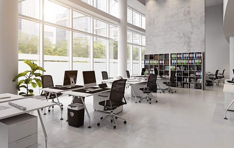 interior of an office space