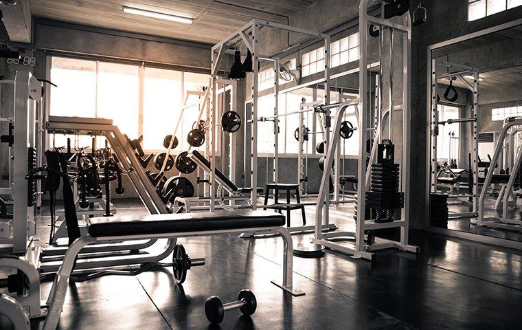 a gym athletic  facility
