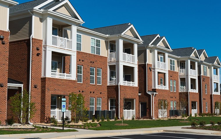 a large apartment complex