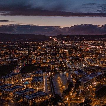 city skyline of pleasanton california