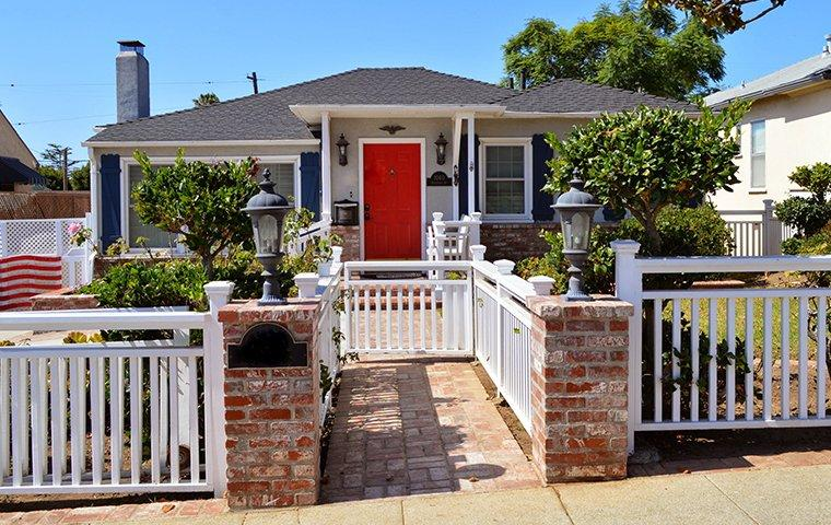 house with a red door in pleasanton california