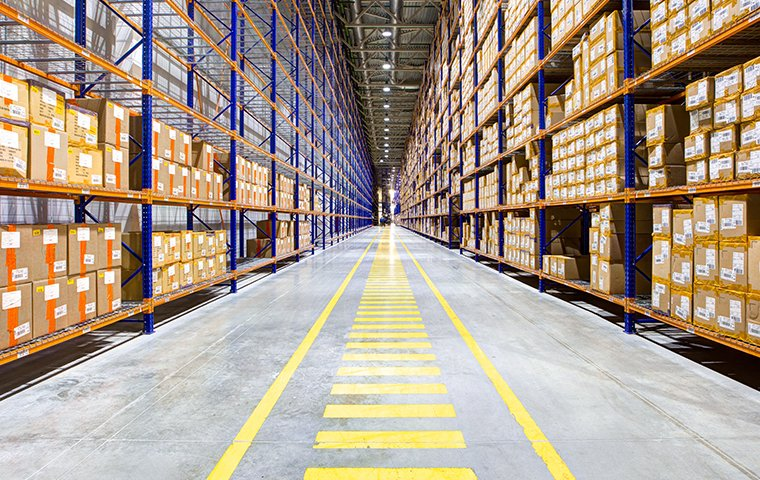 the interior of a commercial warehouse in brooklyn new york