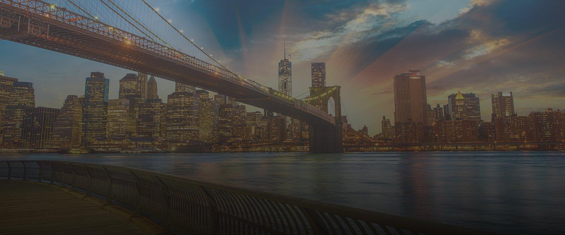 a skyline view of new york city