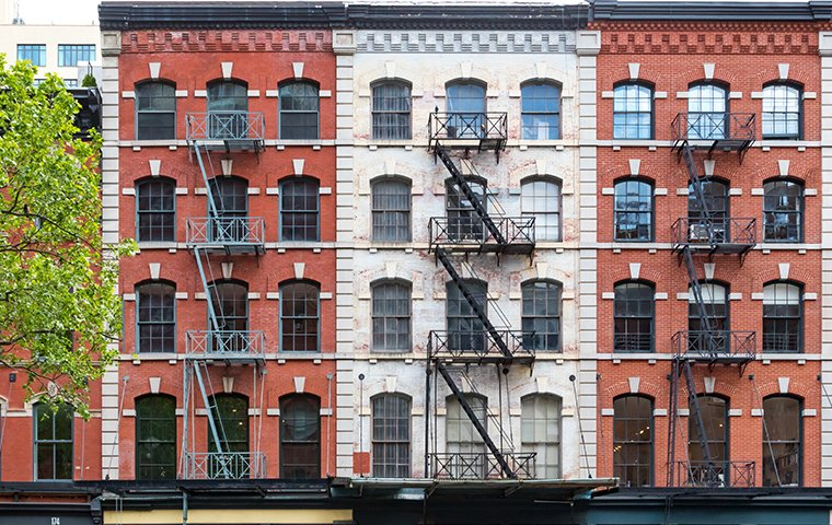 the exterior of a residential housing complex in brooklyn new york