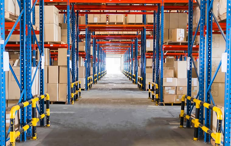 interior view of a warehouse in claremore oklahoma
