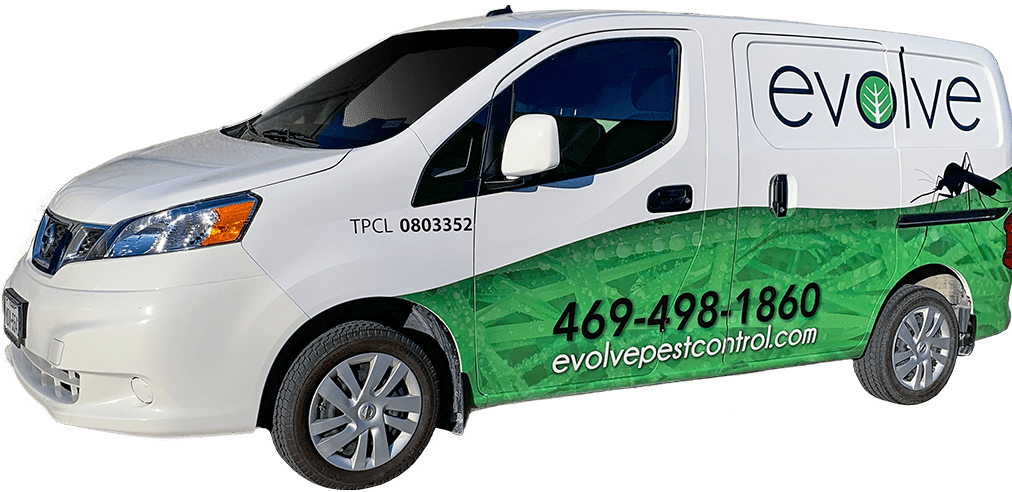 an evolve pest control technician driving his service vehicle in las vegas nevada