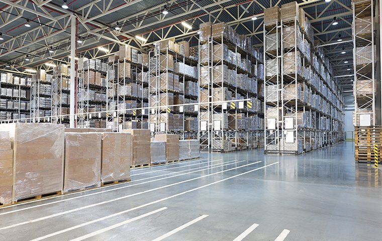 the interior of a warehouse serviced by evolve pest control in las vegas nevada
